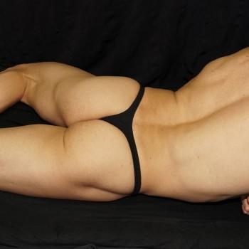 Sutien para hombre de algodon con elastano lycra, vista de espalda