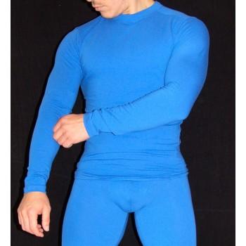 camiseta spandex azulino