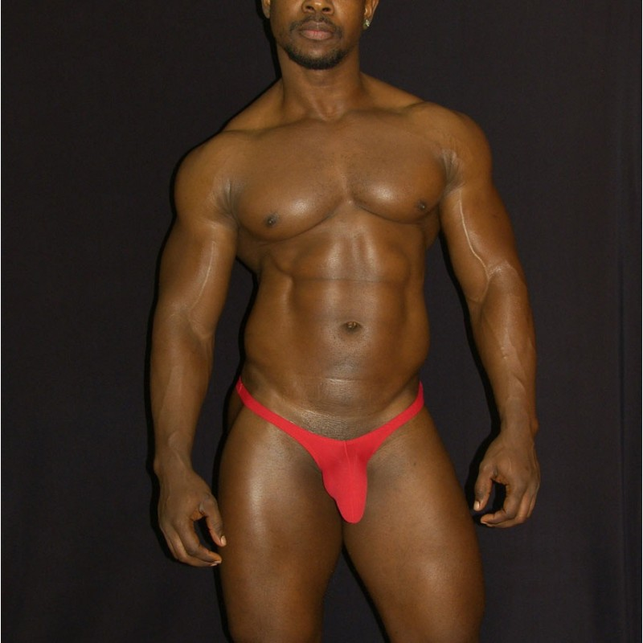 sutien paquete bulge hombre rojo