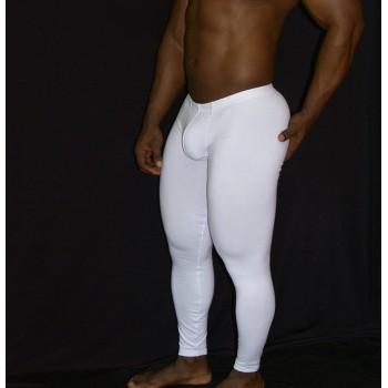 calza larga spandex hombre blanca