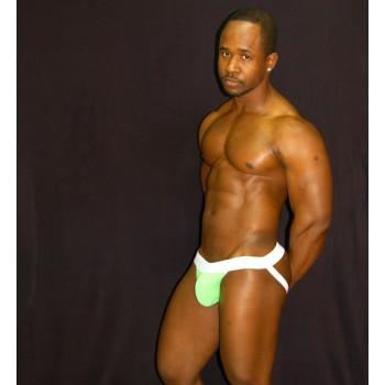 Protector o suspensorio para hombres suplex color pistacho