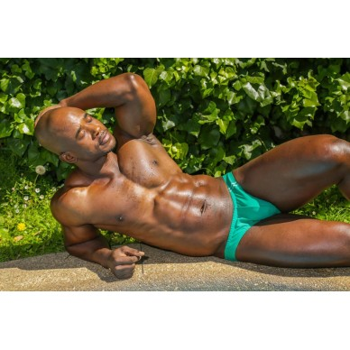 sunga de baño hombre color verde