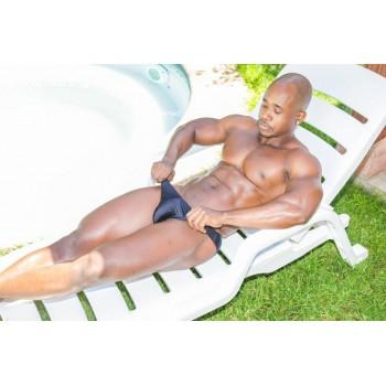 sunga baño hombre color negro