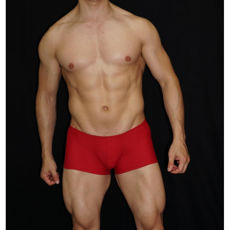 Boxer hombre microfibra rojo cintura baja