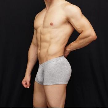 boxer viscosa hombre cintura baja tela gris listada
