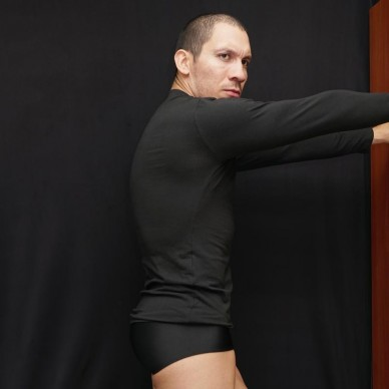 camiseta manga larga hombre spandex negro