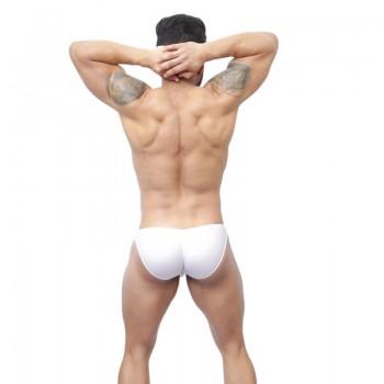slip bikini hombre cachetero blanco