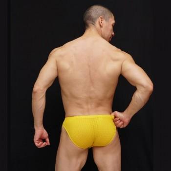 Slip hombre malla microfibra amarilla