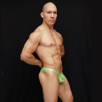 zunga fisicoculturismo hombre brillo verde lima