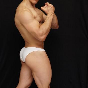 micro slip para hombre color blanco