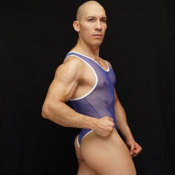 body sutien hombre tul azul