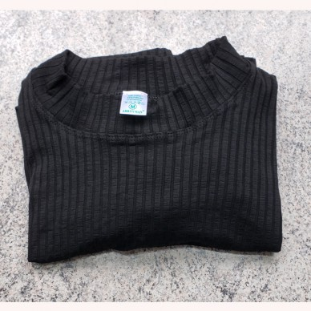 camiseta manga larga textura listada color negro