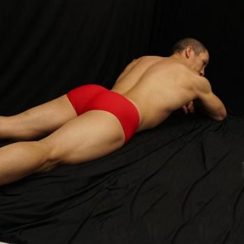 Mini boxer para hombre microfibra suave y acariciante color rojo