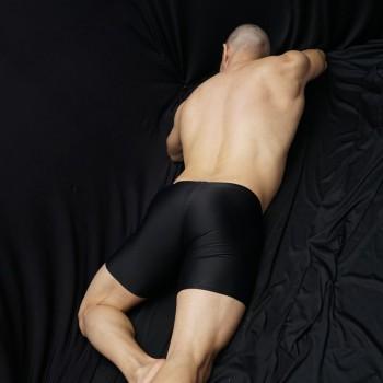 calza corta deportiva compresion color negro